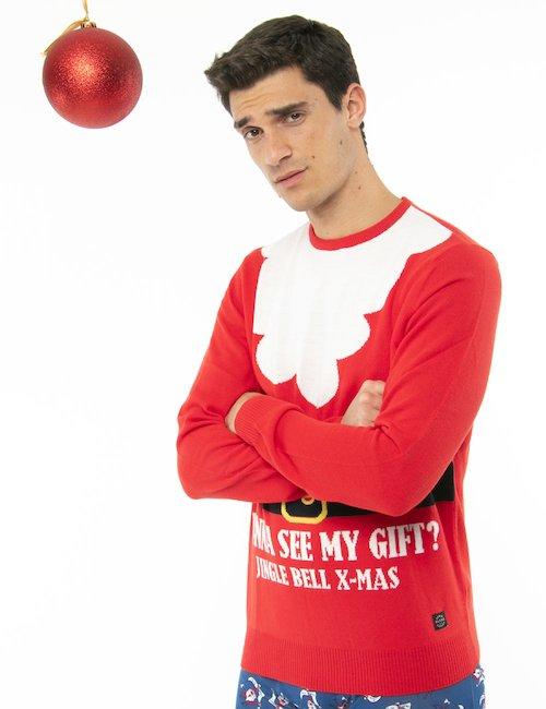 Maglione Blend Babbo Natale - Rosso