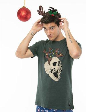 T-shirt Blend con stampa natalizia