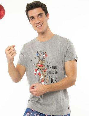 T-shirt Blend con renna stampata