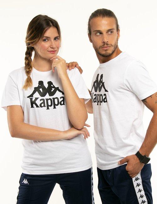 T-shirt Kappa con logo centrale - Bianco