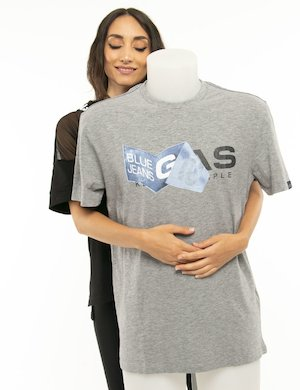 T-shirt Gas logo stampato