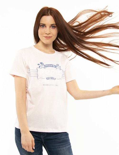 T-shirt Pepe Jeans con stampa vintage - Rosa