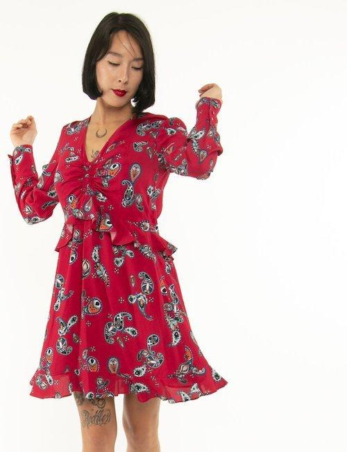 Vestito Pinko con arricciatura - Rosso