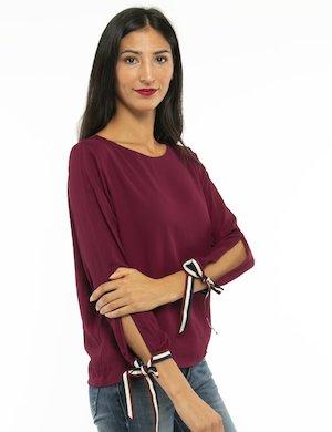 Camicia Yes Zee con nastrini e maniche aperte