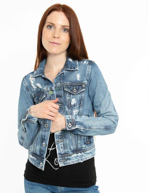 Giacca Pepe Jeans denim effetto consumato - Jeans