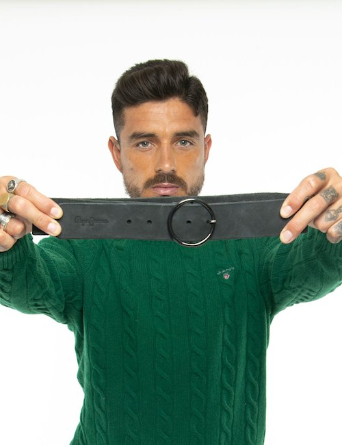 Cintura Pepe Jeans a bordo grezzo - Nero