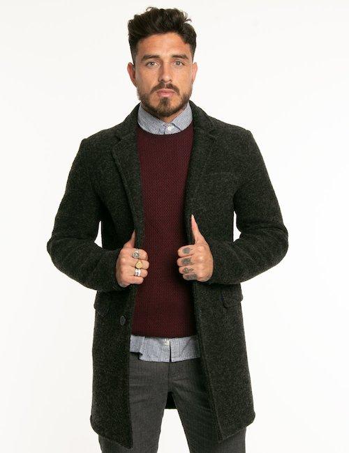 Cappotto Fred Mello in lana cotta - Grigio