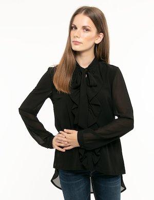 Camicia Fracomina con fiocco al collo
