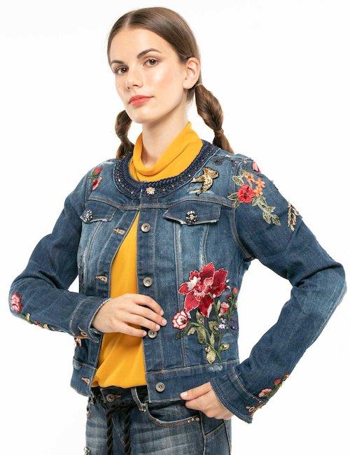 Giacca Fracomina in jeans con decorazioni - Jeans