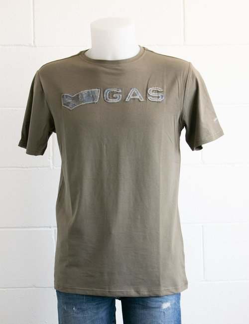 T-shirt Gas con logo applicato - Verde