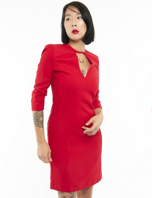 Vestito Pinko scollo a V profondo - Rosso