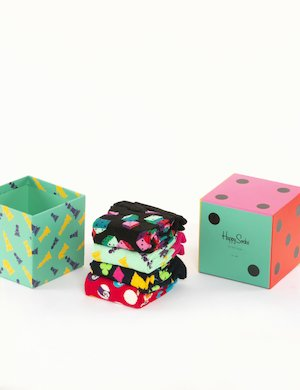 Calze Happy Socks multipack cubo da quattro