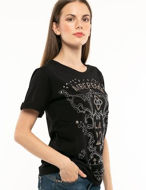 T-shirt Imperfect con strass