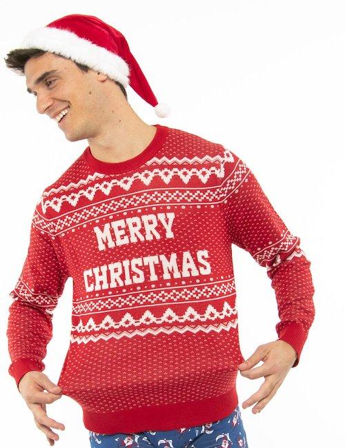 Maglione Jack&Jones natalizio - Rosso