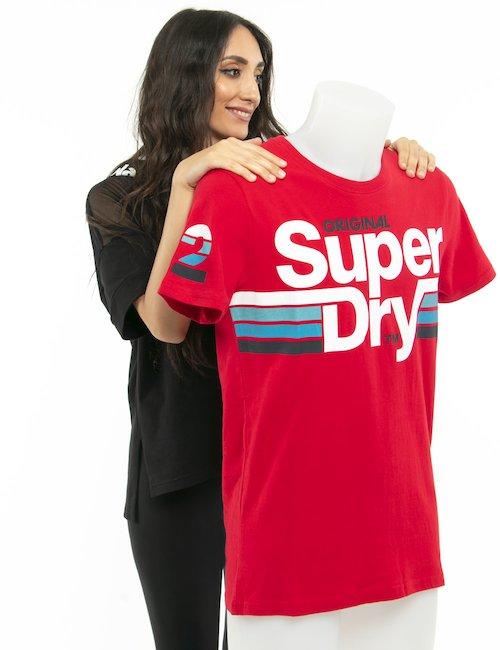 T-shirt Superdry maxi logo - Rosso