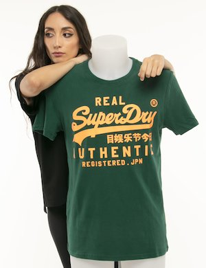 T-shirt Superdry logo fluo