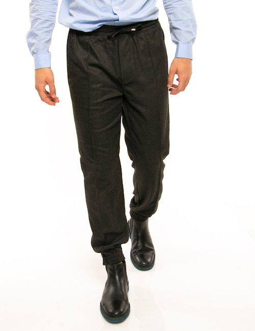 Pantalone Liu Jo con orli e vita elasticizzati - Grigio