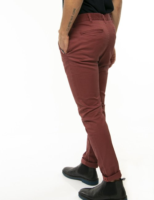 Pantalone Superdry slim - Bordeaux
