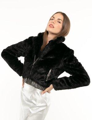 Giacca Maison Espin con pelliccia ecologica