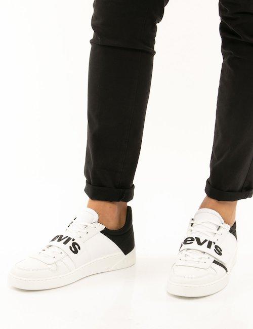 Scarpa levi's con logo centrale - Bianco
