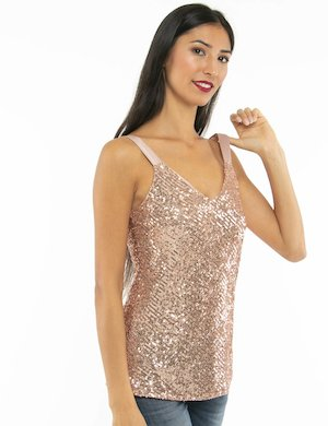 Top Vougue con paillettes
