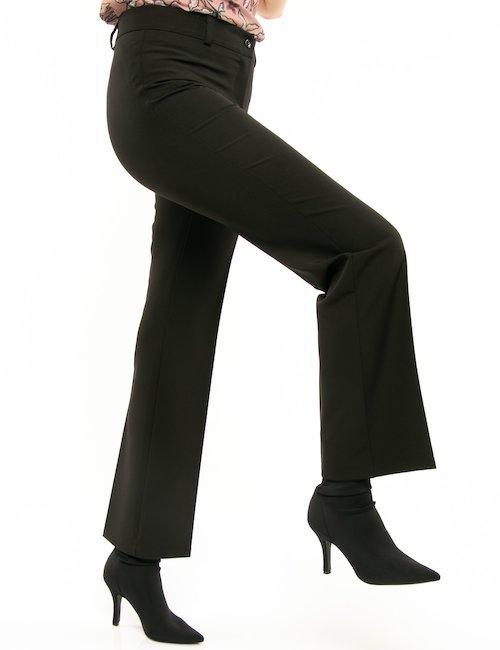 Pantalone Vougue con pieghe davanti e dietro - Nero