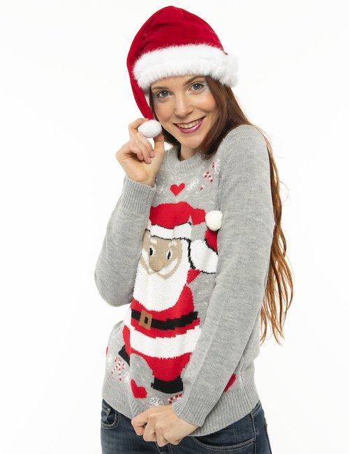 Maglione Vero Moda con Babbo Natale - Grigio