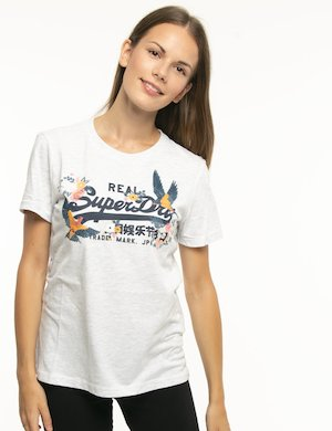 T-shirt Superdry con logo centrale