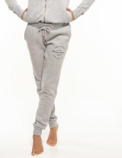 Pantalone Superdry con logo ricamato - Grigio