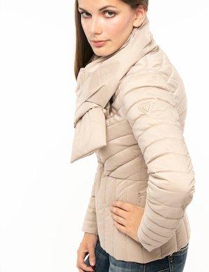 Guess giacca guess pelliccia ecologica double face rosa secondastrada crema poliestere