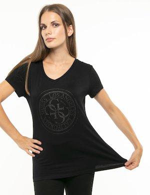 T-shirt Guess logo circolare