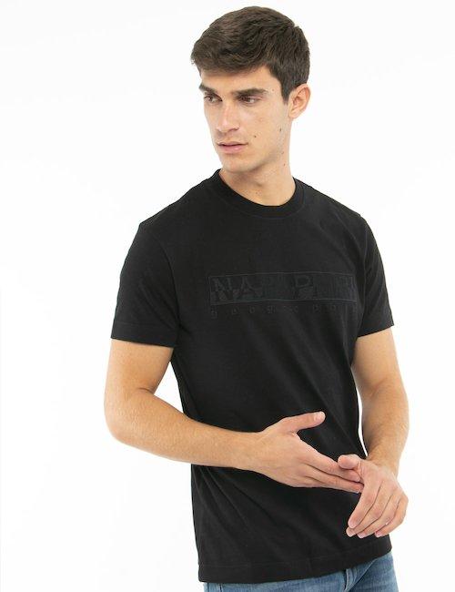 T-shirt Napapijri con logo ricamato - Nero