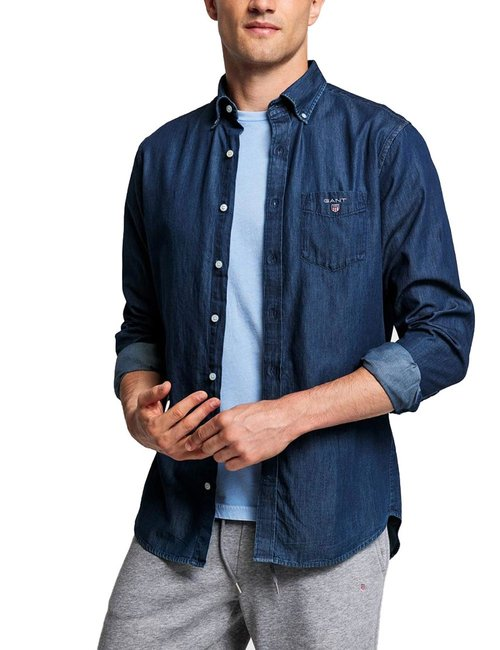 Camicia Gant regular fit - Blu