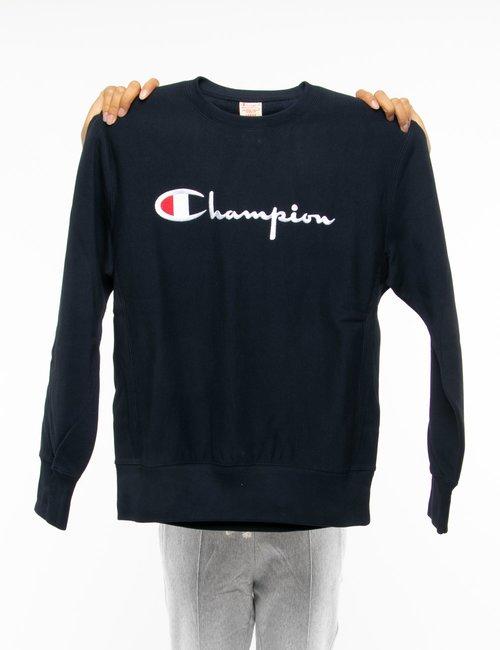 Felpa Champion con logo ricamato - Blu