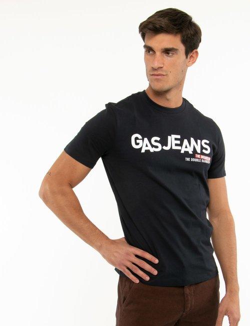 T-shirt Gas con stampa - Blu