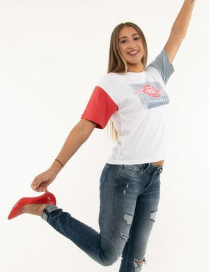 T-shirt Pepe jeans con maniche a contrasto