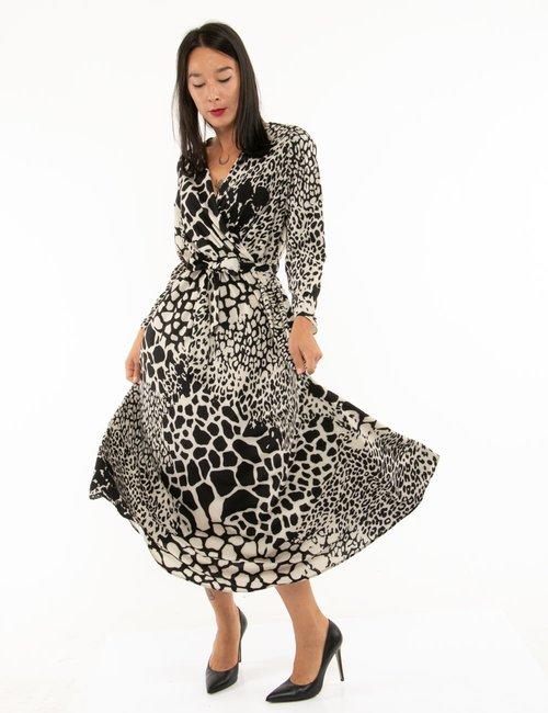 Vestito Vougue con scollo incrociato - Fantasia