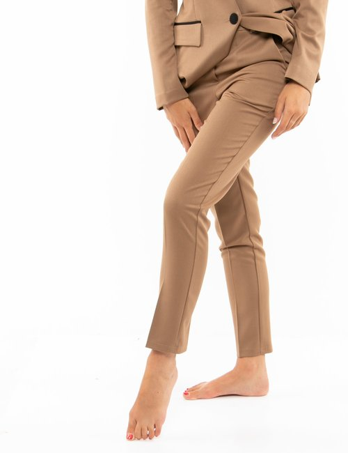 Pantalone Vougue con tasche - Marrone