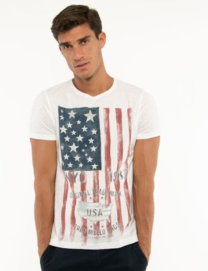 T-shirt Fred Mello con stampa vintage