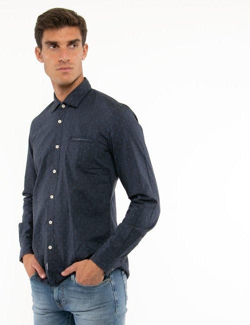 Camicia Fred Mello a pois - Blu