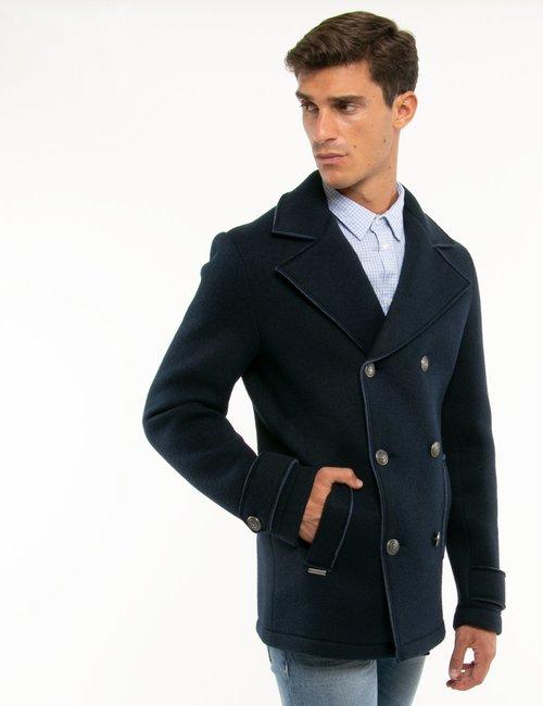 Cappotto Fred Mello con bottoni decorati - Blu