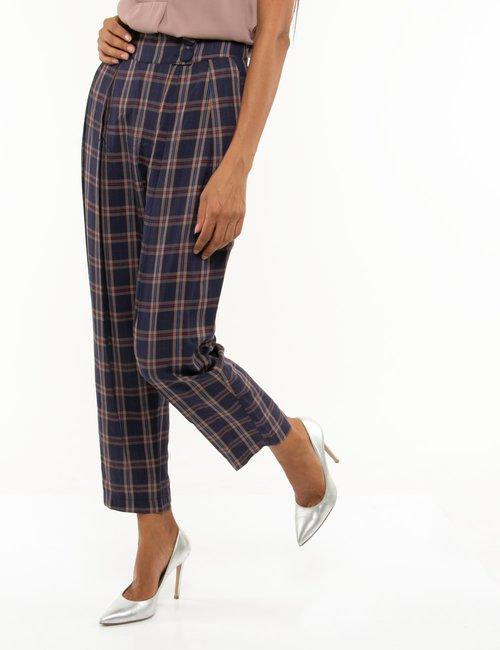 Pantalone Fracomina tartan - Blu