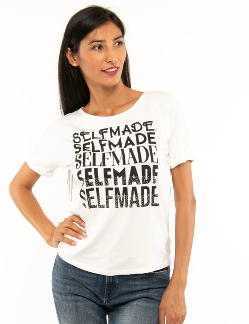 T-shirt Fracomina con stampa - Bianco