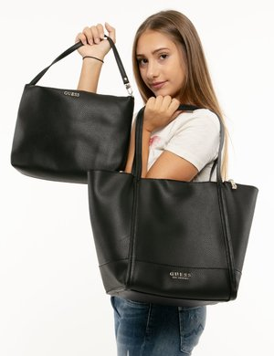 Borsa Guess con zip laterali