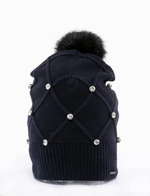 Cappello Imperfect con strass - Blu