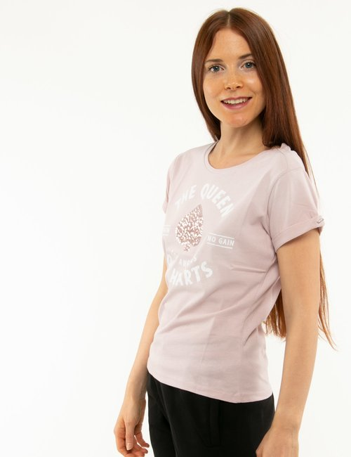 T-shirt Imperfet con paillettes - Rosa