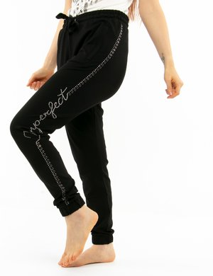Pantalone Imperfect con strass