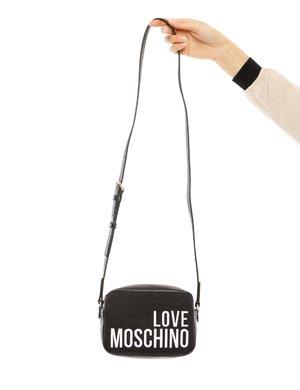 Borsa Love Moschino con logo ricamato