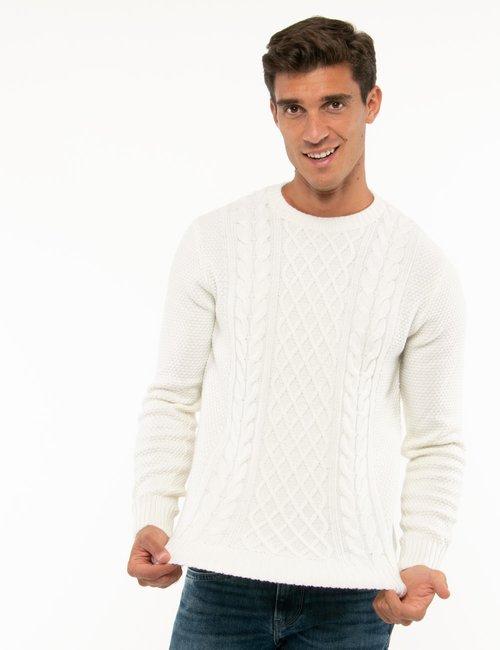 Maglione Smiling London lavorato - Bianco