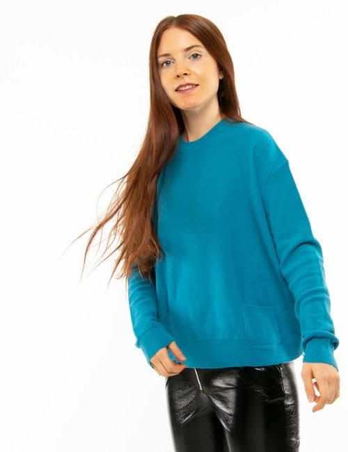 Maglione Manial Grace con tasche - Blu